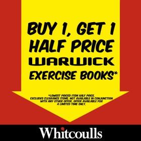 Buy-1-Get-1-Half-Price-Warwick-Exercise-Books on sale