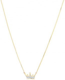 Crown-Necklace-with-Diamonds-in-10ct-Yellow-Gold on sale