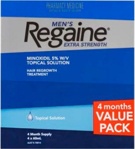 Regaine-Mens-Extra-Strength-4-Month-Value-Pack-4x60mL on sale
