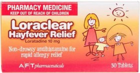 Loraclear-Hayfever-Relief-10mg-30-Tablets on sale