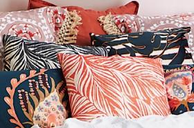 Kas-Camoleaf-Velvet-Cushions on sale