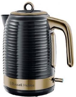 Russell-Hobbs-Inspire-Brass-Black-Kettle on sale