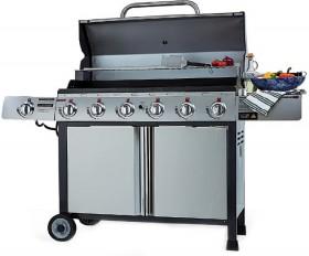 Goldair-Chef-6-Burner-Stainless-Steel-BBQ-With-Side-Burner on sale