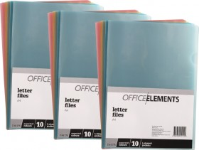 Office-Elements-A4-L-Shaped-Pockets on sale
