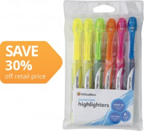 OfficeMax-Pen-Style-Liquid-Highlighters on sale