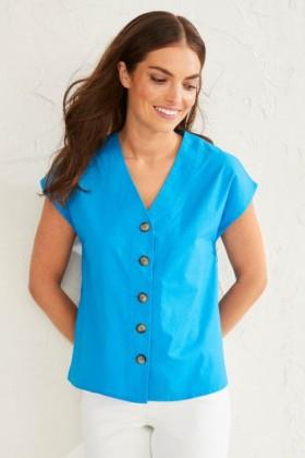 Emerge-Organic-Cotton-Button-Up-Shirt on sale