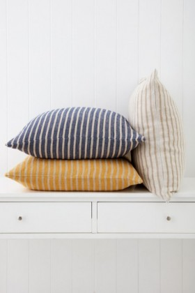 Striped-Linen-Cushion on sale