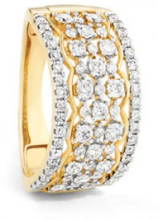 NEW-Multi-Row-Ring-with-1-Carat-of-Diamonds-in-10ct-Yellow-Gold on sale