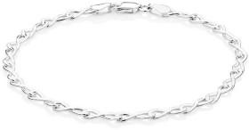 19cm-7.5-Infinity-Bracelet-in-Sterling-Silver on sale