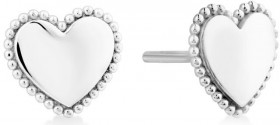 Beaded-Border-Heart-Studs-in-Sterling-Silver on sale