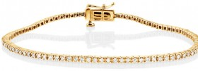 Tennis-Bracelet-with-1-Carat-TW-of-Diamonds-in-10ct-Yellow-Gold on sale