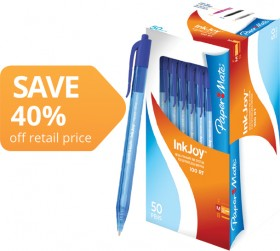 Paper-Mate-InkJoy-100-Retractable-Ballpoint-Pens on sale