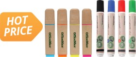 OfficeMax-Eco-Highlighters-Permanent-Markers on sale