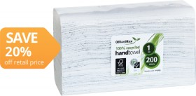 OfficeMax-Eco-100-Recycled-Hand-Towels on sale
