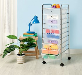 Recollections-Rolling-Organiser-10-Drawer-Opaque-White on sale