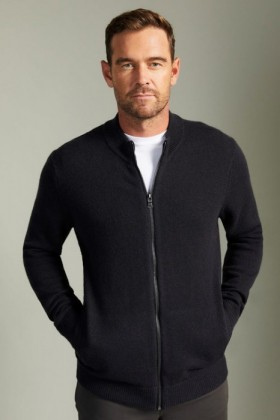 Southcape-Lambswool-Zip-Up-Cardigan on sale