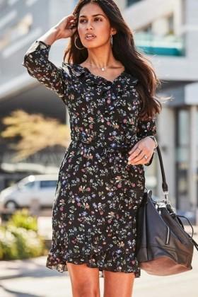 Urban-Frill-Print-Dress on sale