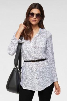 Urban-Floral-Print-Long-Shirt on sale
