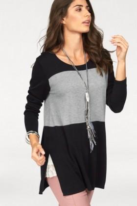 Urban-Colour-Block-Longline-Knit-Top on sale