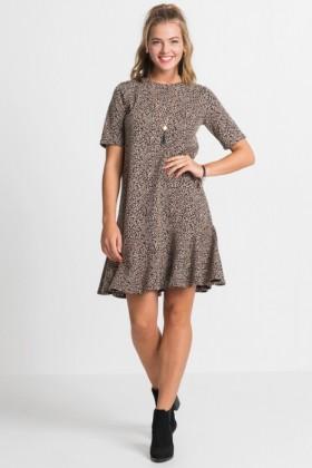 Urban-Printed-Short-Sleeve-Dress on sale