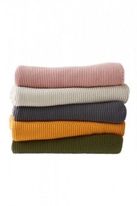 Cotton-Knitted-Throw on sale