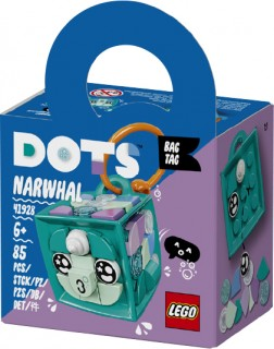 NEW-LEGO-Dots-Bag-Tag-Narwhal-41928 on sale