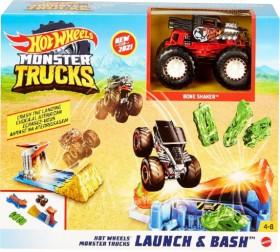 Hot-Wheels-Monster-Trucks-Launch-N-Bash-Play-Set on sale