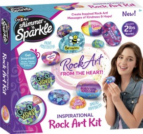 Cra-Z-Art-Shimmer-n-Sparkle-Inspirational-Rock-Art-From-The-Heart on sale