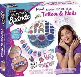 Cra-Z-Art-Shimmer-n-Sparkle-Sparkling-Glitter-Tattoo-And-Nails on sale