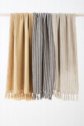 Striped-Linen-Throw on sale