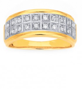 9ct-Diamond-Double-Row-Band on sale
