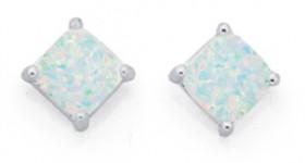 Sterling-Silver-Created-Opal-Earrings on sale