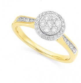 9ct-Two-Tone-Diamond-Ring on sale