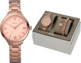Fossil-Ladies-Rose-Gold-Watch-and-Bracelet-Boxset on sale