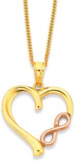 9ct-Open-Heart-Infinity-Pendant on sale