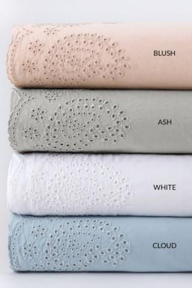 Washed-Cotton-Anglaise-Sheet-Set on sale