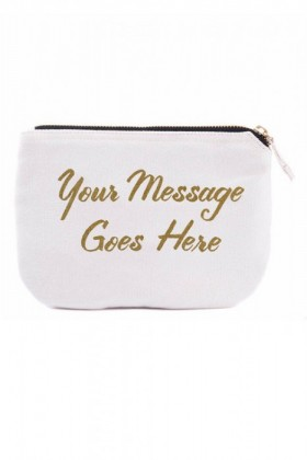Personalised-Custom-Message-Canvas-Pouch on sale