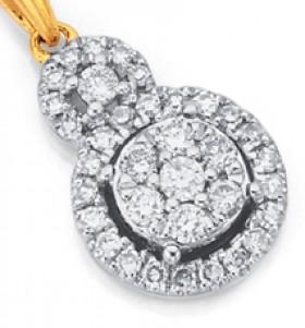 9ct-Diamond-Pendant on sale