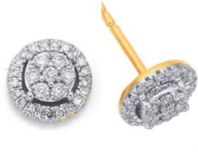 9ct-Diamond-Earrings on sale