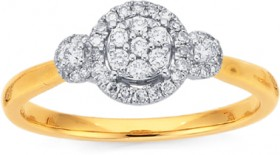 9ct-Diamond-Ring on sale