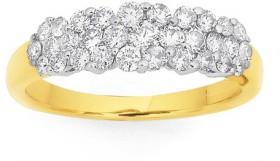 9ct-Cluster-Diamond-Ring on sale