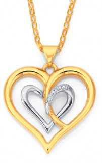 9ct-Diamond-Heart-Pendant on sale