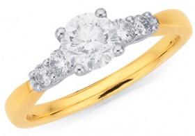 9ct-Five-Stone-Diamond-Ring on sale