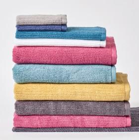 Brampton-House-Ribbed-Zero-Twist-Towel-Range on sale
