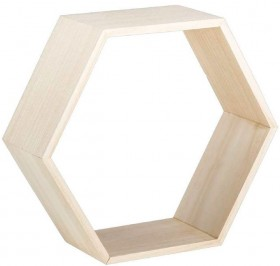 30-off-Francheville-Timber-Hexagon-Shelf on sale