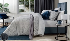 Koo-Chevron-Faux-Fur-Duvet-Cover-Set on sale