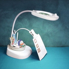 50-off-Triumph-LED-Magnifying-Floor-Lamp-with-Clip-Arm-Tray on sale