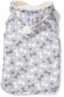 Bond-Co.-Bone-Print-Pom-Pom-Dog-Hoodie-Grey on sale
