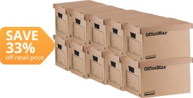 OfficeMax-Enviro-Recycled-Archive-Boxes on sale