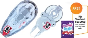 NEW-Pritt-Refillable-Correction-Tape-Refill-Bundle-FREE-RJS-SHERBERT-FIZZ-200G-WITH-PURCHASE on sale